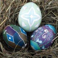 Decoración variada de huevos de Pascua