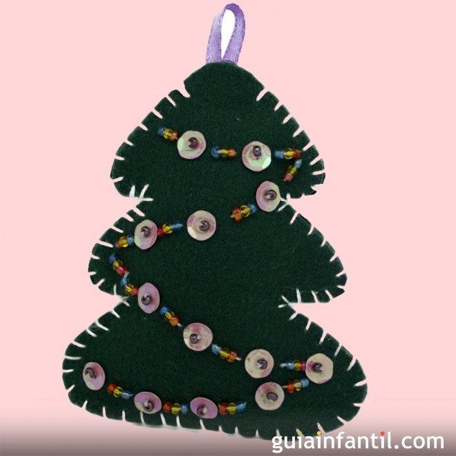 Árbol de Navidad de fieltro para decorar