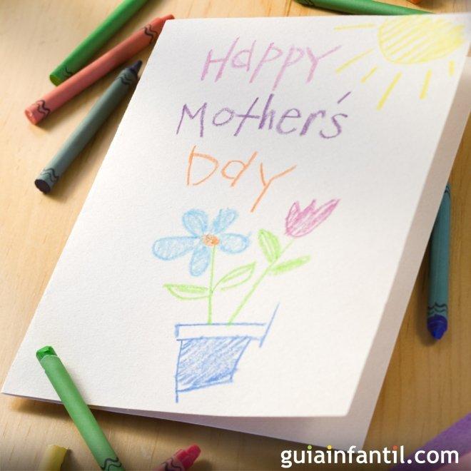 Una tarjeta de felicitación para la madre