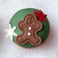 Cupcake con muñeco de jengibre