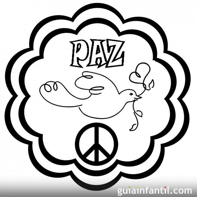 Dibujo de mandala con paloma para la paz - 10 Mandalas de la paz ...