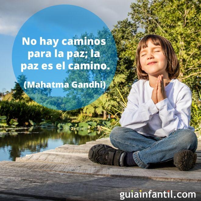 La paz según Mahatma Gandhi