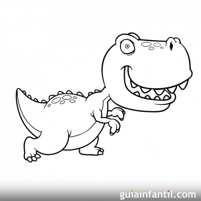 Dibujo de Tyranosaurus Rex para niños - Dibujos de ...