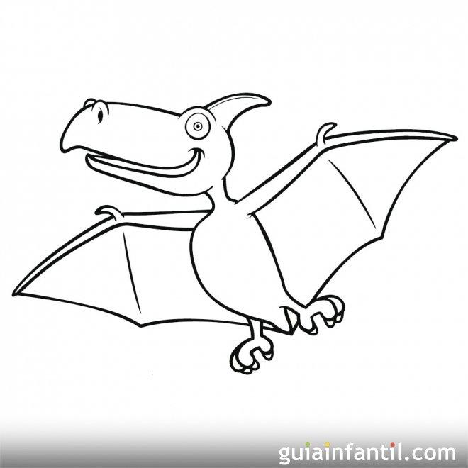 Dibujo de Pterosaurios o dinosaurio volador