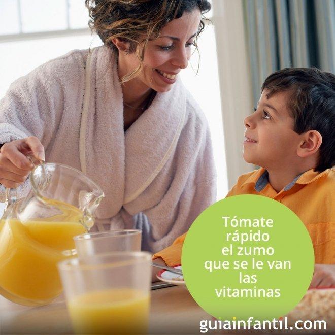 Tómate el zumo antes de que se le vayan las vitaminas