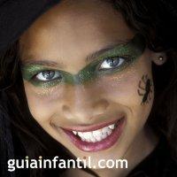Máscara de maquillaje de bruja para halloween