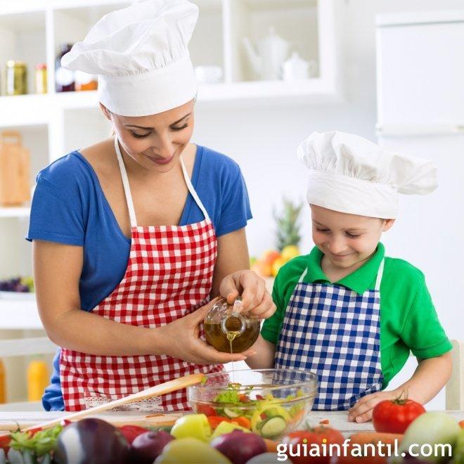 Añadir aceite de oliva en todos los menús infantiles