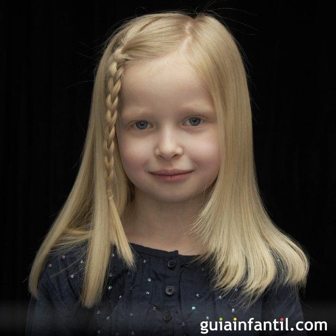 Peinado frontal trenzado para niñas