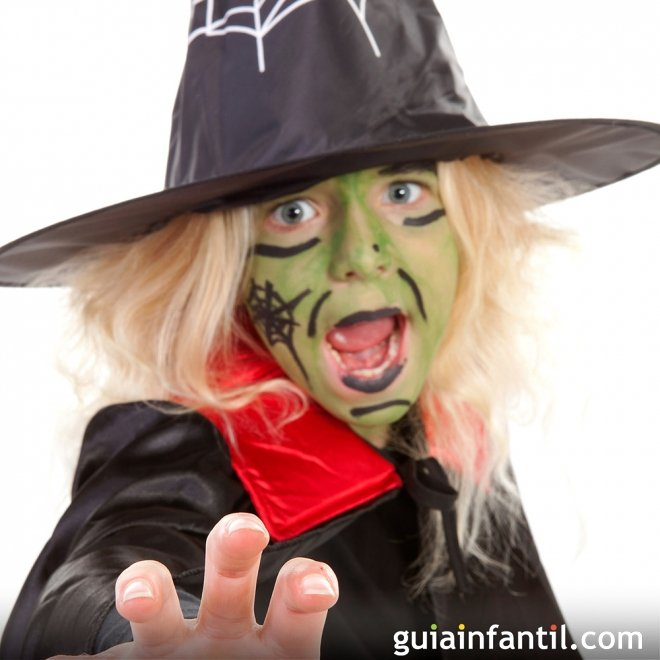 Maquillaje de bruja verde