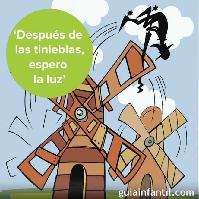 La esperanza es importante para Don Quijote. Frases literarias para niños