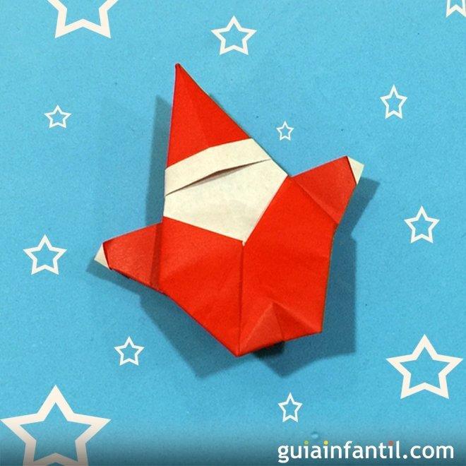 Papá Noel en Origami para niños