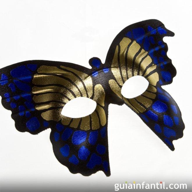 Simpático antifaz de mariposa para Carnaval. Recorta la silueta ...