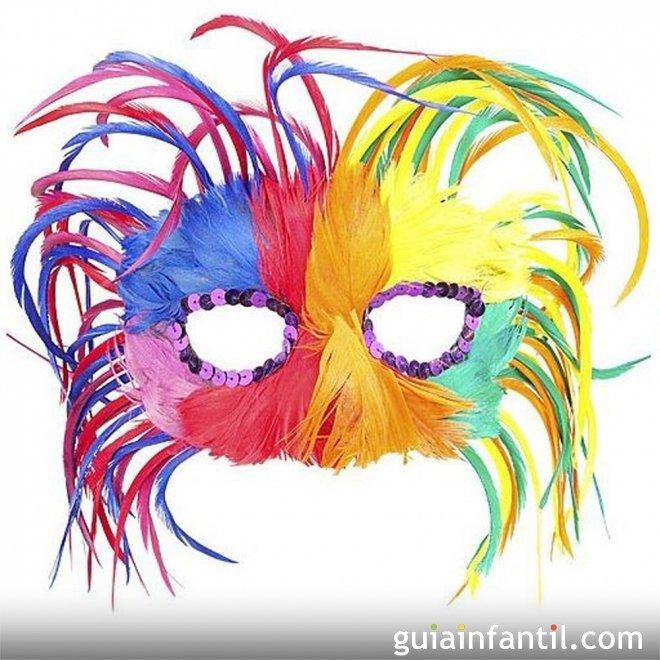 de Carnaval - Antifaces para niños y padres. Manualidades de Carnaval