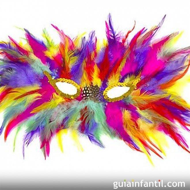 Diseño multicolor para un antifaz de Carnaval
