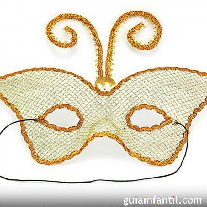 Mariposa blanca de antifaz