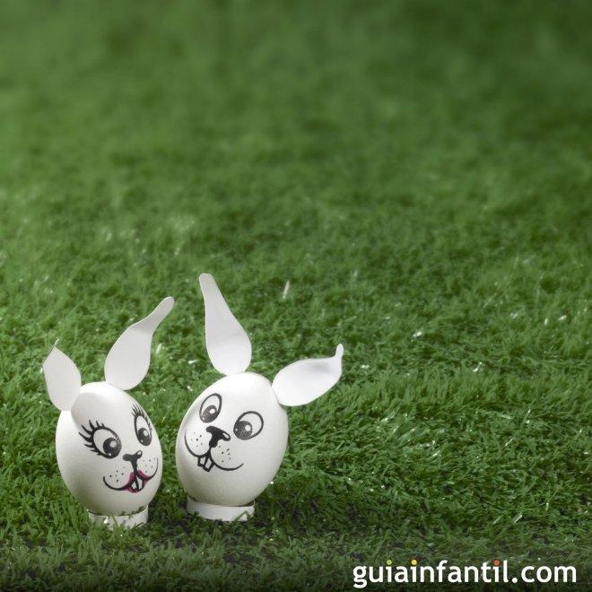 Decorar huevos de pascua pareja de conejos ideas para - Videos de huevos de pascua ...