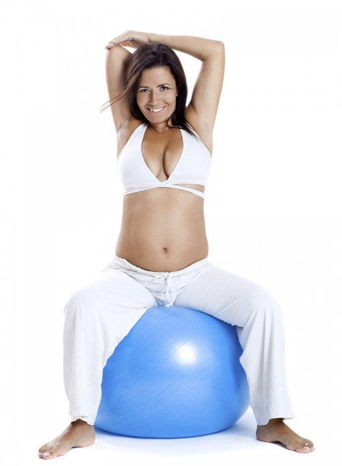 Cuando la embarazada debe empezar los ejercicios con pelota