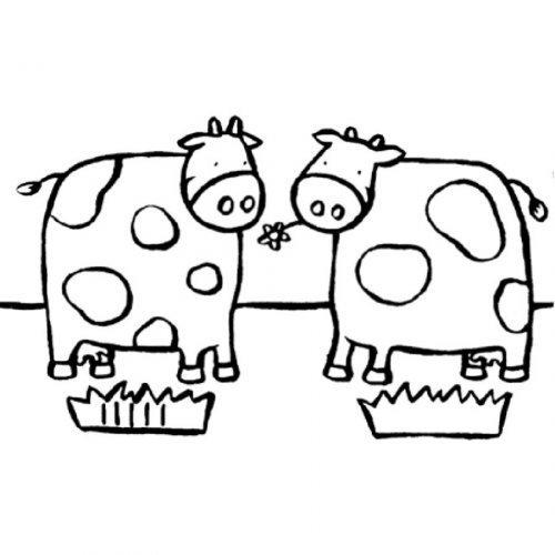 Dibujo para colorear de unas vacas