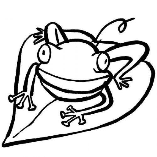 Dibujo de una rana para imprimir y colorear
