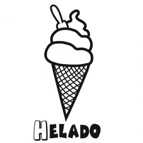 Dibujo con helado para colorear - Dibujos para colorear de comidas ...