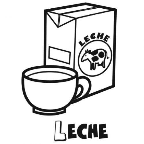 Dibujo de taza de leche para pintar