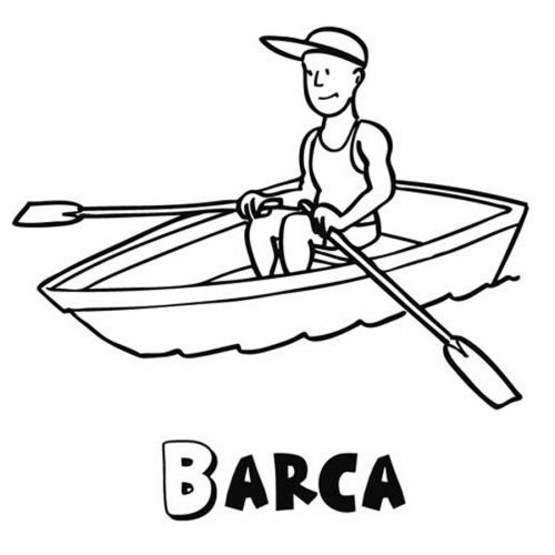 Dibujo para colorear de una barca