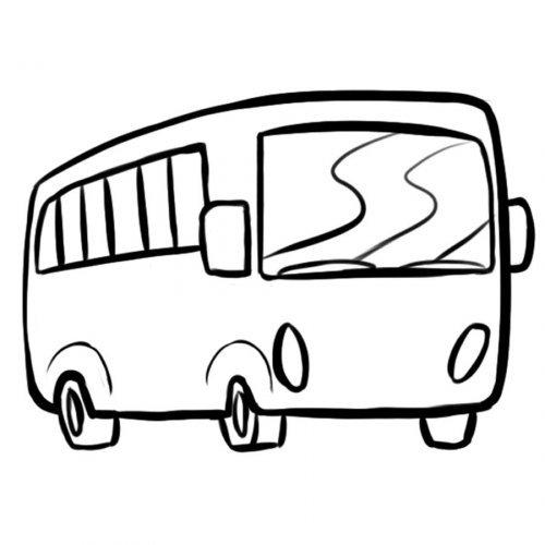 Dibujo de un autocar para pintar