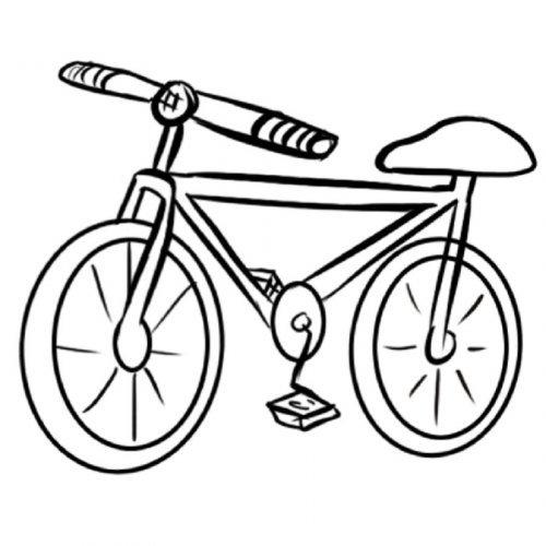 Dibujo de una bicicleta para colorear - Dibujos para colorear de ...