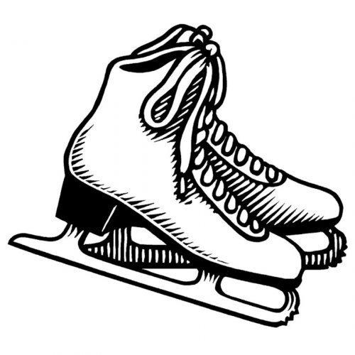 Dibujo para pintar de patines de hielo