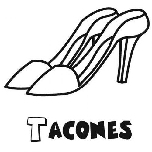 Dibujo de zapatos de tacón para colorear - Dibujos para colorear ...