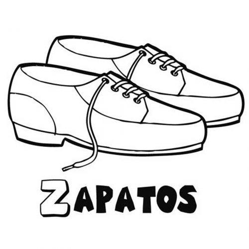 Dibujo para pintar de zapatos de cordón - Dibujos para colorear de ...