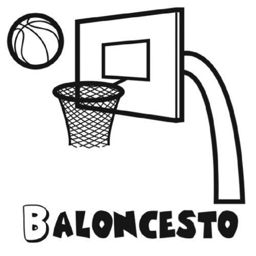 Dibujo para pintar con canasta de baloncesto