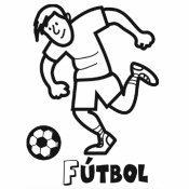 Dibujo de fútbol para colorear