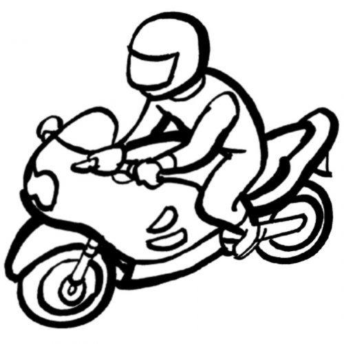 Dibujo para pintar de motociclismo - Dibujos para colorear de deportes