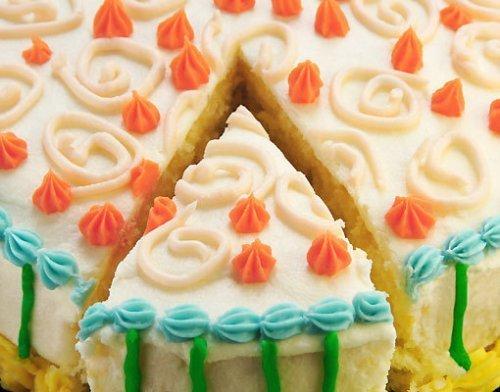Tarta para el cumpleaños de los niños. Con colores