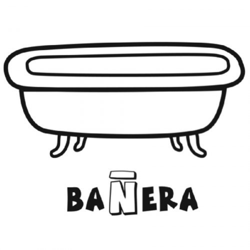 Imagenes De Un Baño Para Colorear:Dibujo para colorear de una bañera – Dibujos para colorear de objetos