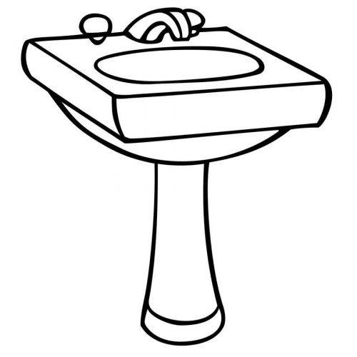 Dibujo de un lavabo para imprimir y colorear