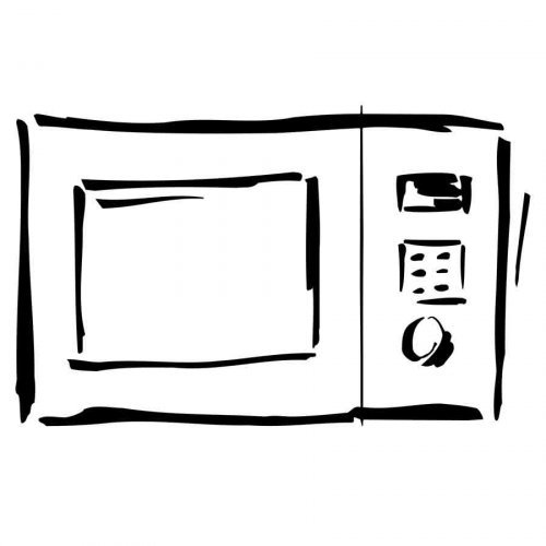 Dibujo de un microondas para colorear
