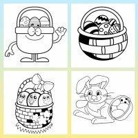 Cestas de Pascua para colorear con los niños
