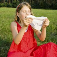 Alergia el polen y los niños