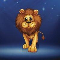 El león y el chivo. Fábulas de La Fontaine