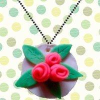 Medallón con rosas casero