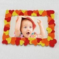 Portafotos de corazones. Manualidades para niños