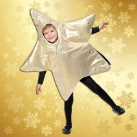 Disfraz navideño de estrella. Manualidades infantiles