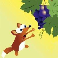 Fábulas para niños. La zorra y las uvas