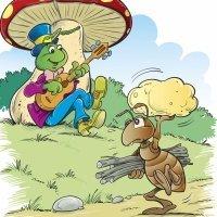 Fábulas para niños. La cigarra y la hormiga