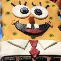 Tarta de Bob Esponja para niños