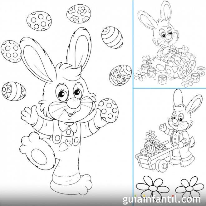 Dibujos de Pascua para imprimir y colorear