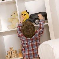 La organización de los juguetes de los niños