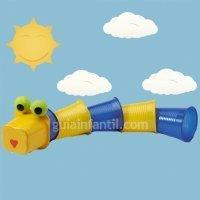 Dragón de plástico. Manualidades infantiles de reciclaje